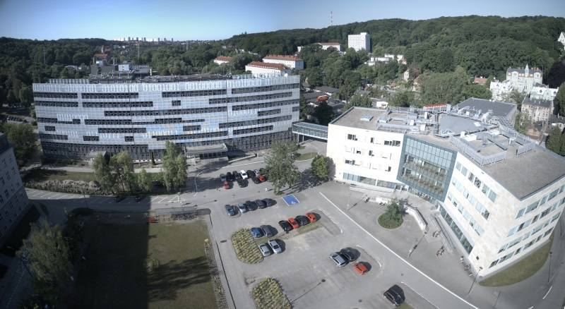 Aerial view of the Faculty of Electronics, Telecommunications and Informatics buildings, courtesy of Krzysztof Deptuła / FlyPics.pl