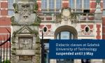 Didactic classes at Gdańsk University of Technology suspended until 3 May