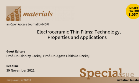 Electroceramic Thin Films: Technology, Properties and Applications