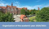 Organization of classes in the 2020/2021 academic year
