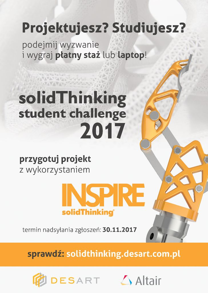 Konkurs solidThinking Student Challenge 2017