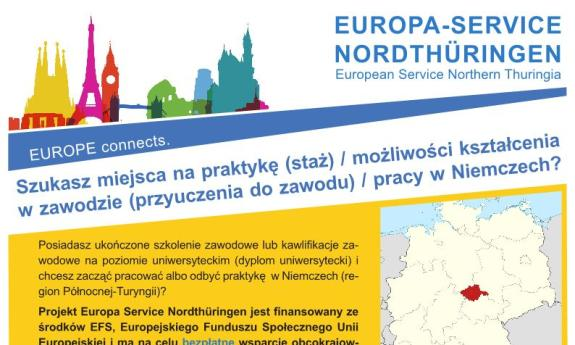 Offer job/internship in Northern Thuringia / European Service Northern Thuringia