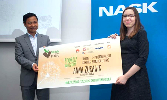 Anna Żurawik Wins Huawei Training Experience in China