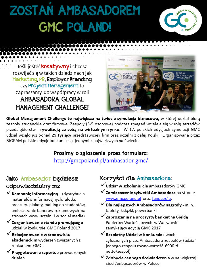 PROGRAM AMBASADORSKI GLOBAL MANAGEMENT CHALLENGE 201