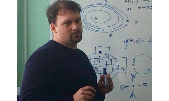 dr Axel Jänig from the Institute of Mathematics of the University of Rostock in Germany