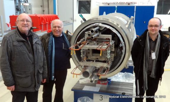 Project team for the diagnostics of superconducting electromagnets at FAIR headquarters in Germany