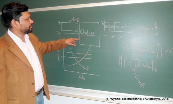 Visiting Professor M. Rizwan Khan from India at the Faculty of Electrical and Control Engineering