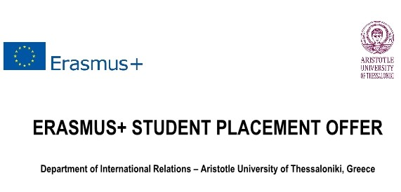 Erasmus+ Traineeship Calls - ARISTOTLE UNIVERSITY OF THESSALONIKI