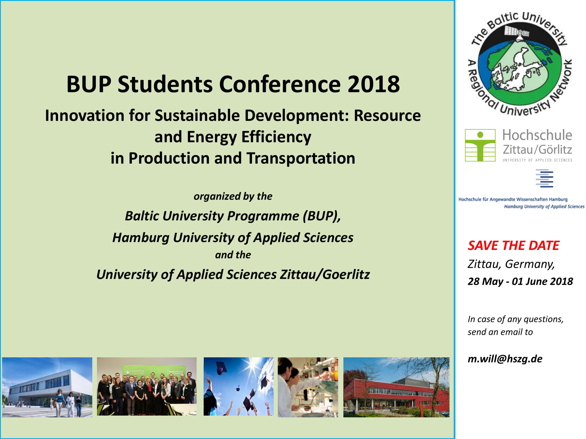 BUP Spring Students' Conference, 28th May - 01st June 2018, in Großschönau /Zittau