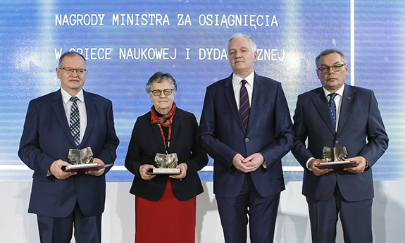 Prof. Dominiak and Prof. Krzemiński Awarded by the Minister of Science and Higher Education