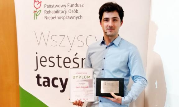 A student from the Faculty of Electrical and Control Engineering won the PFRON award