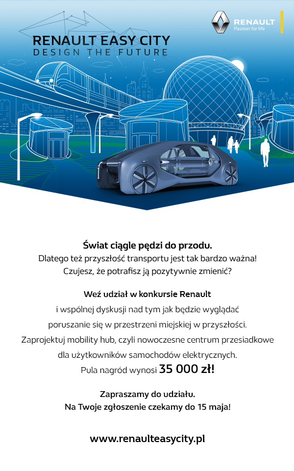 "Konkurs ""Renault Easy City. Design the Future"" na projekt centrum przesiadkowego"