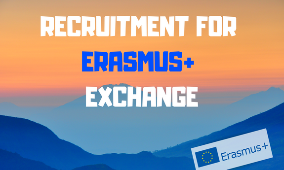 RECRUITMENT FOR THE STUDENT EXCHANGE WITHIN ERASMUS+