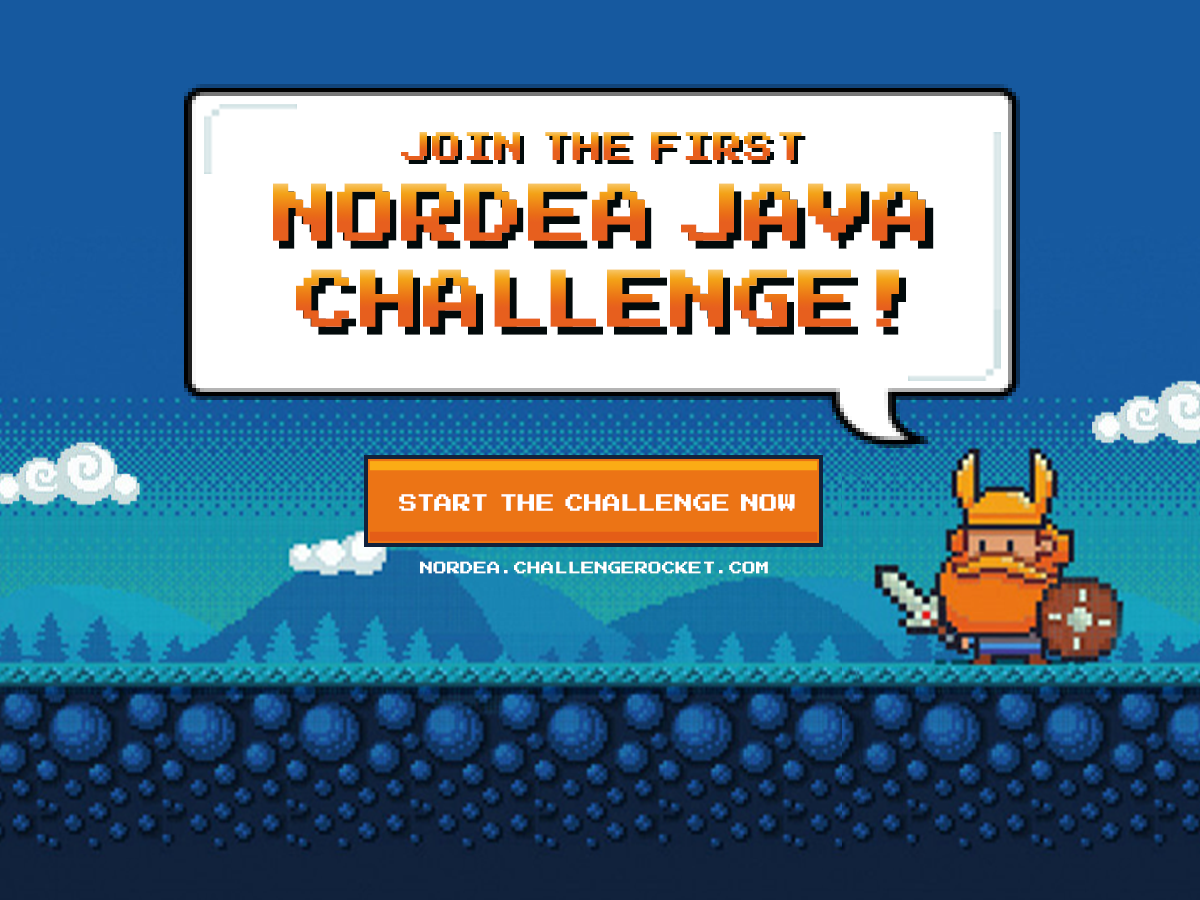 SAY YES TO BJORN - JOIN THE NORDEA JAVA CHALLENGE