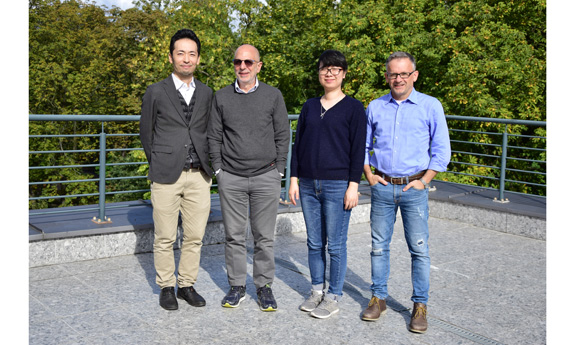 Professor Robert Joseph Cava, Professor Shintaro Ishiwata, and Professor Weiwei Xie at the Faculty of Applied Physics and Mathematics