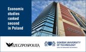 Economic studies of the GUT Faculty of Management and Economics ranked second in Poland